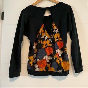 Volcom | Floral Open Back Sweatshirt